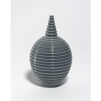 Shiny Grey Grooved Bottle [18-48]