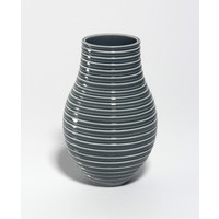 Shiny Grey Grooved Vessel [18-54]
