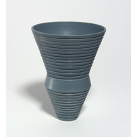 Matt Grey Grooved Bowl [18-55]