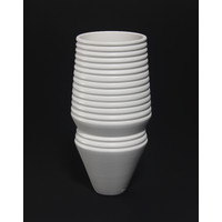 Matt White Grooved Vessel [18-56]