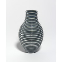 Shiny Grey Grooved Vessel [18-57]