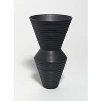 Charcoal Grooved Vessel [18-59]