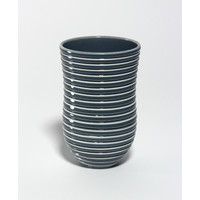 Shiny Grey Grooved Vessel [18-61]