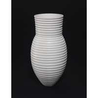 Matt White Grooved Vessel [18-64]