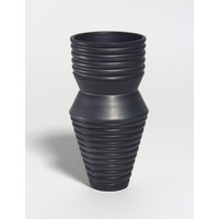 Charcoal Grooved Vessel [18-75]