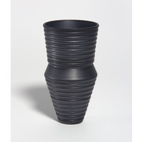 Charcoal Grooved Vessel [18-78]