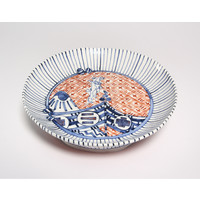 Nagasaki Red Footed Plate (Tall) [22788]