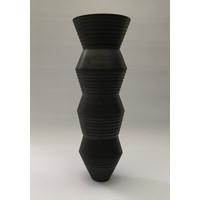Charcoal Grooved Vessel [AF19-2]