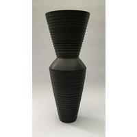 Charcoal Grooved Vessel [AF19-4]