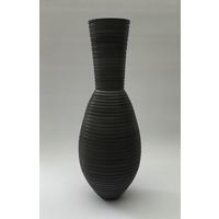 Charcoal Grooved Vessel [AF19-7]