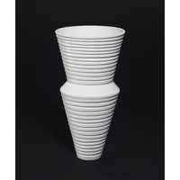 Matt White Grooved Vessel [19-24]