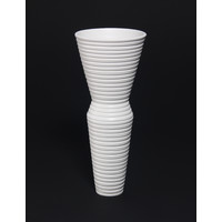 Matt White Grooved Vessel [19-27]