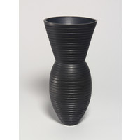 Charcoal Grooved Vessel [19-28]