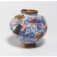 Yobitsugi Style Vase (Round) [2-1]