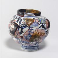 Yobitsugi Style Vase (Round) [2-2]