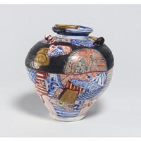 Yobitsugi Style Vase (with Ears) [8-2]