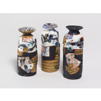 Yobitsugi Style Sake Bottle Set [12-1]