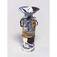 Yobitsugi Style Vase (with Ears) [14-2]
