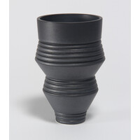 Charcoal Grooved Vessel [20-26]