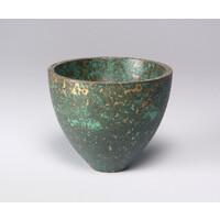 Patinated Bronze Crucible [24195]