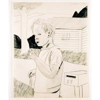 Boy with Mailbox