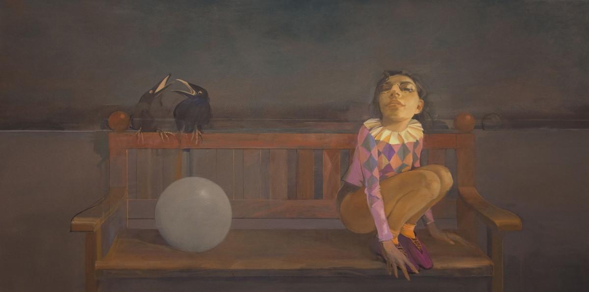 Bench Seat Conversation by Gary Waldrom